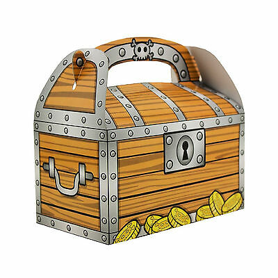 Pirate Theme Birthday Party Treasure Chest Gold Coins Favor Goodie Boxes BULK