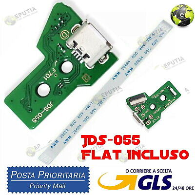 Per PS4 Controller Micro USB ricarica porta presa 12 Pin circuito JDS-055...