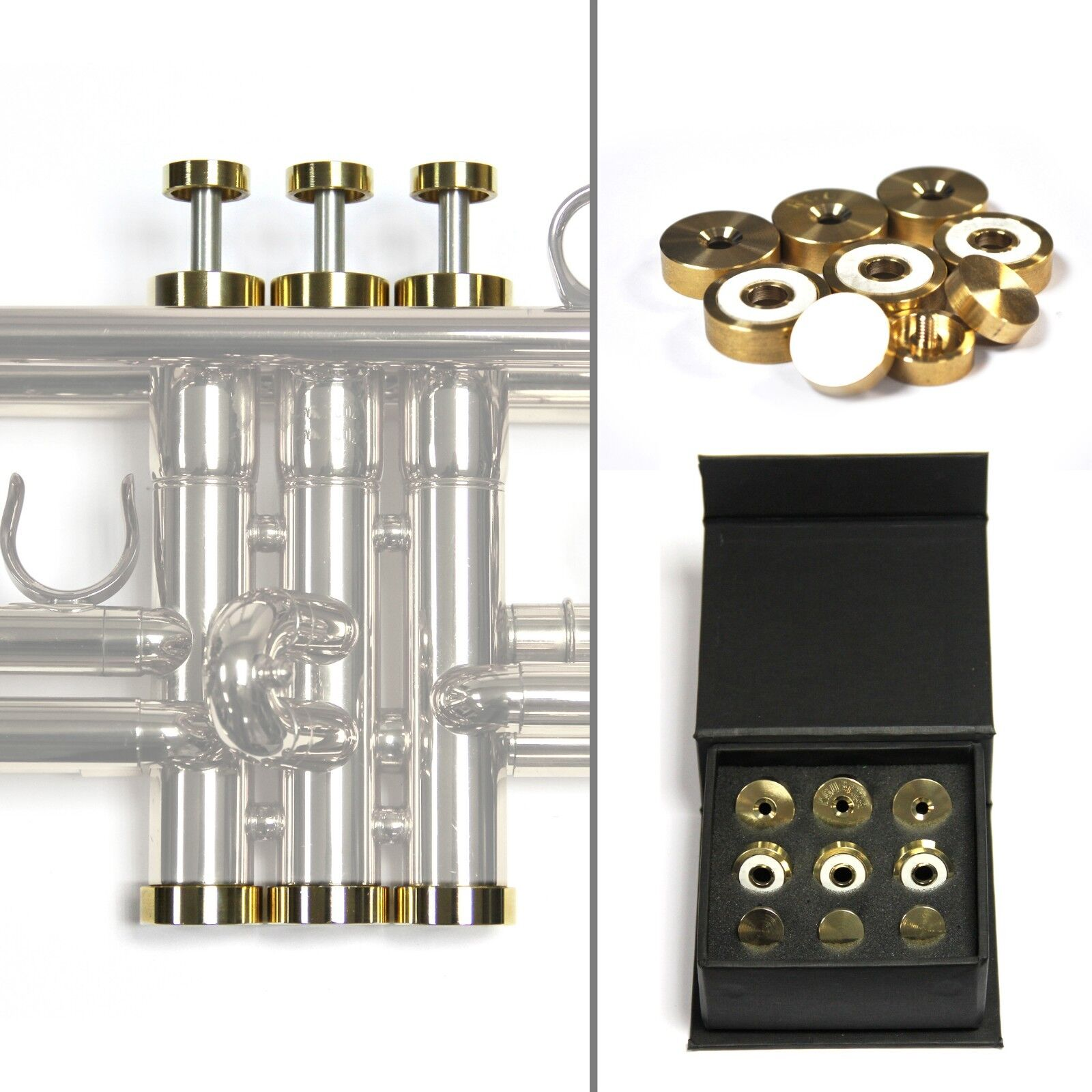 HEAVY, Raw Brass Trumpet Trim Kit for improving the sound Custom made KGUBrass For all Bach Stradivarius Trumpet
