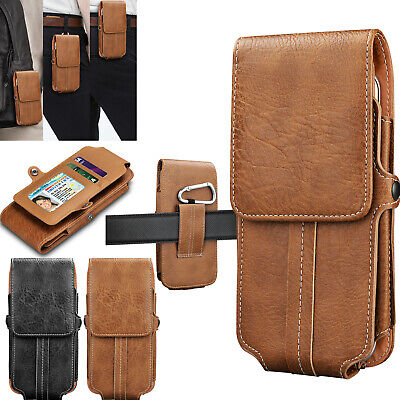 Leather Wallet Carrying Pouch Case Cover Holster W/Belt Loop For Motorola Phone
