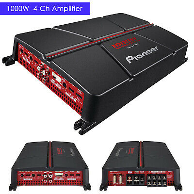 Pioneer GM-A6704 1000 Watt 4-Channel Class AB Car Audio Full Range Amplifier NEW