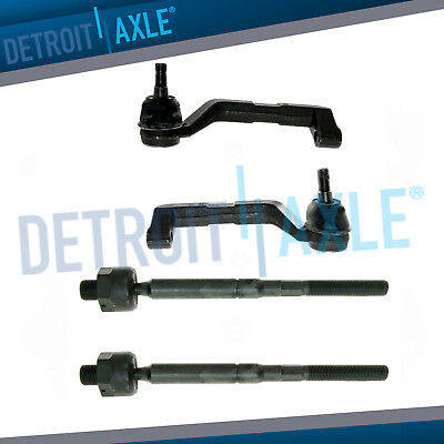 4pc Front Inner Outer Tie Rod Ends for 2005-2010 Dodge Charger Chrysler 300 AWD