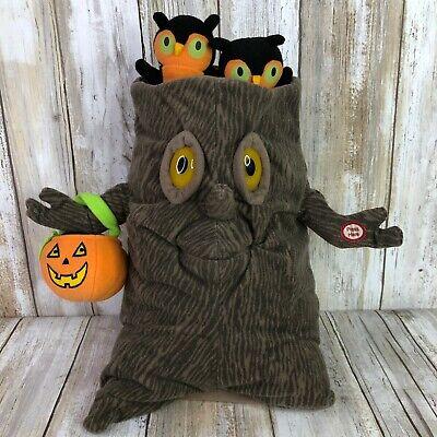 Hallmark Singing Tree Halloween Decoration Owl Pumpkin Eyes Light Up Mouth Moves