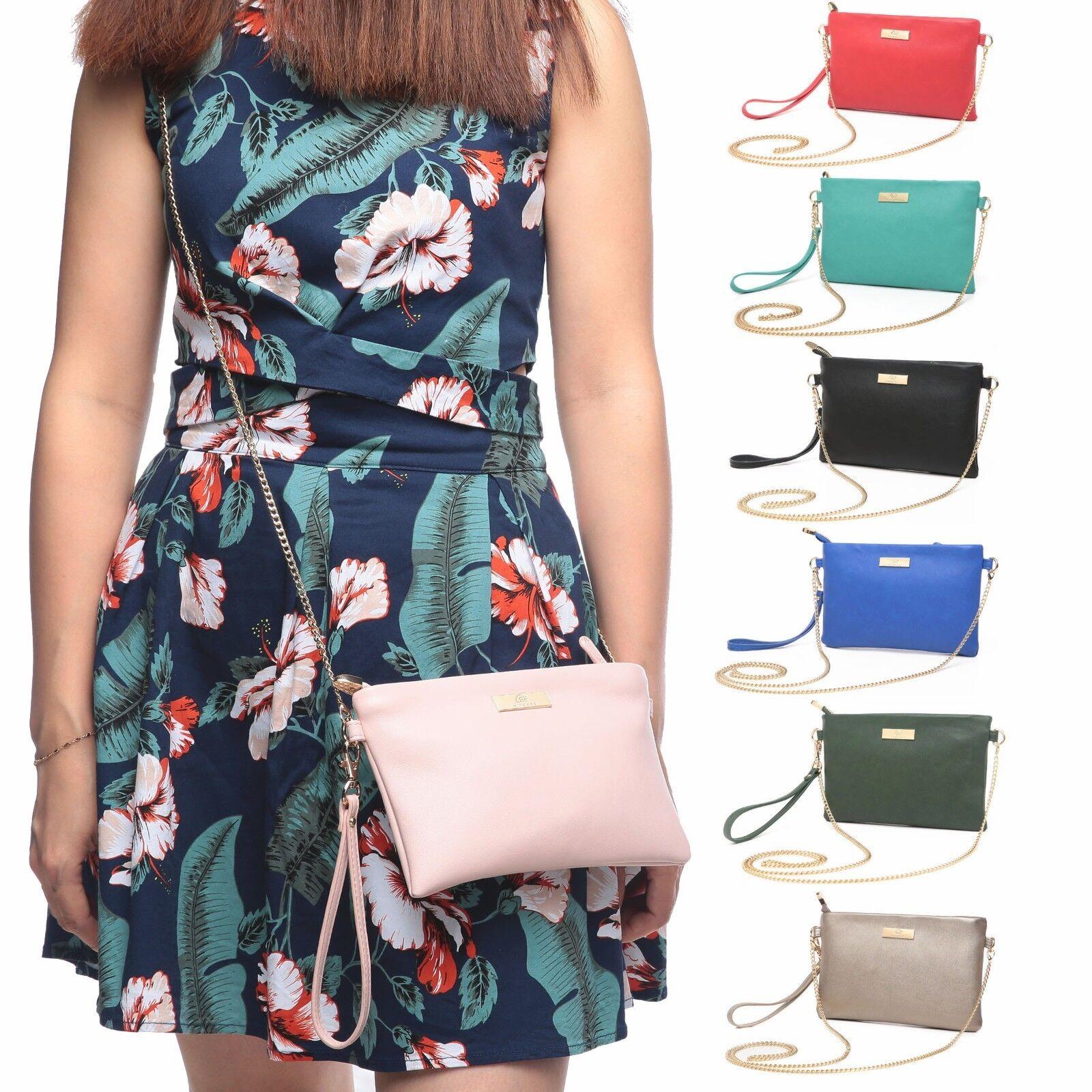 Aitbags Leather Zip Crossbody Bag Women Wallet Handbag Clutc