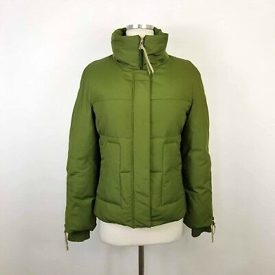 Green Jacket - BCBG MaxAzria Green Down Puffer Jacket Coat Size XS