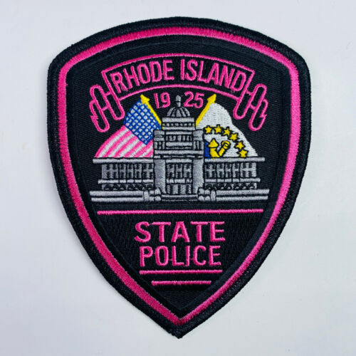 Rhode Island State Police Pink Breast Cancer Awareness Patch