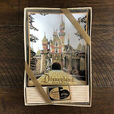 Vintage Disneyland Tray Gift Box By Houze Art Sleeping Beauty's Castle *UNOPENED