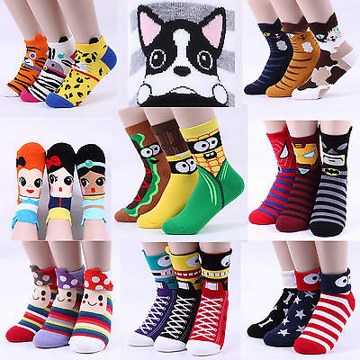 Free shipping Women Funny Socks Halloween Monster Superhero Animal Cat Ballerina