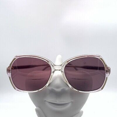Vintage Gucci GG2102 Blue Pink Translucent Oval Sunglasses Italy FRAMES ONLY