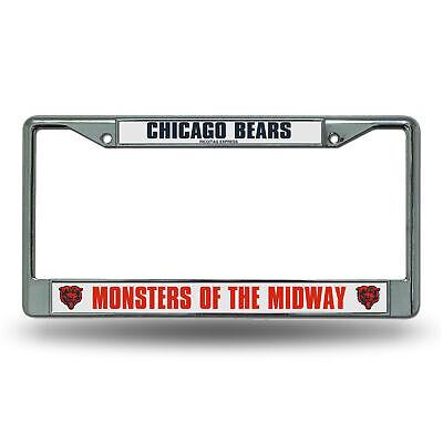 Chicago Bears NFL Chrome Metal License Plate Frame