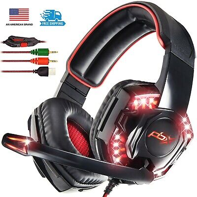 PBX Falcon 5 Elite Gaming Headset with LED Lights & Boom Microphone