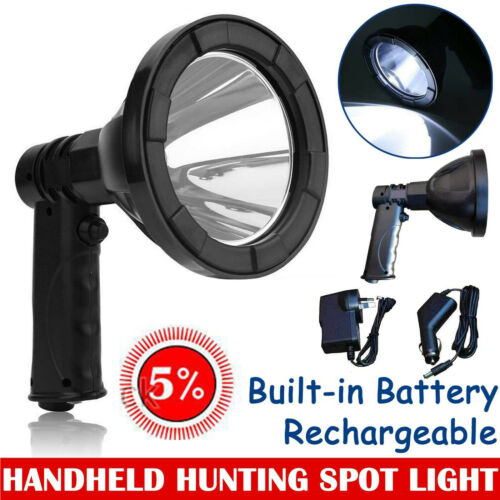 320000LM Cree LED Hand held  Hunting Camping SpotLight Spotlight Fishing OffRoad