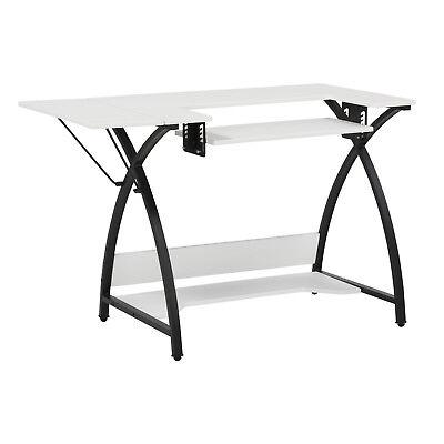 Studio Designs Comet Home Diversion Craft Sewing Machine Table Desk, Black & White