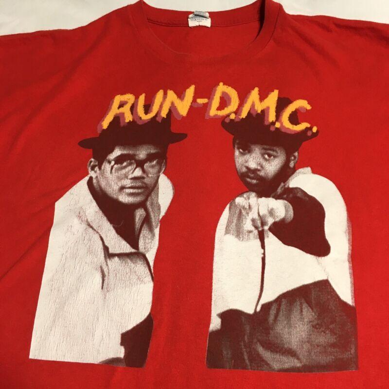 Run DMC Shirt XXL 2XL Picture Red Joseph Simmons Darryl McDaniels Jam Master J