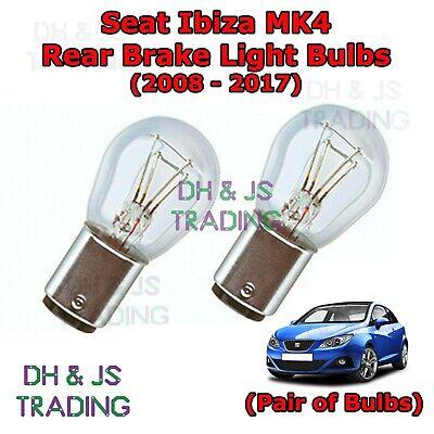 Seat Ibiza Rear Brake Light Bulbs Pair of Stop / Tail Light Bulb MK4 (08-17)
