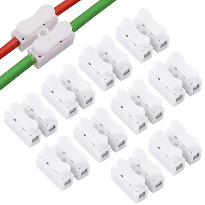 10x Cable Eléctrico Conectores Terminales de Cable de Bloqueo Rápida Empalme