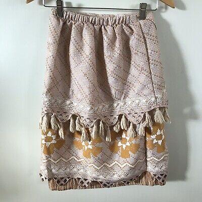 Disney Costume Moana Skirt Hawaiian Tan Geometric Junior  Size 13 - Disney Junior Costumes
