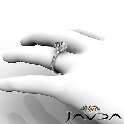 Halo Micro Pave Women's Heart Diamond Engagement Ring GIA Certified H VS2 2 Ct 5