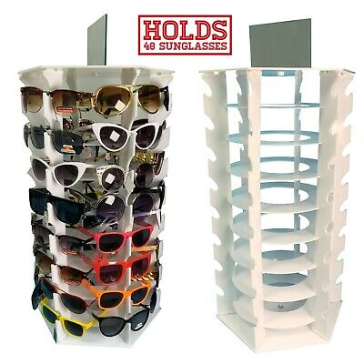 Sunglasses Display Rack Holds 48 Pieces With Mirror Spinning Bottom Brand New