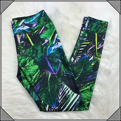 Zella Capri Pants Rainforest Tropical Floral Womens Size Small Athletic Stretch