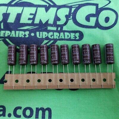 10* JAPAN Panasonic FM 3300uf 6.3V 3300mfd  Impedance Electrolytic Capacitors