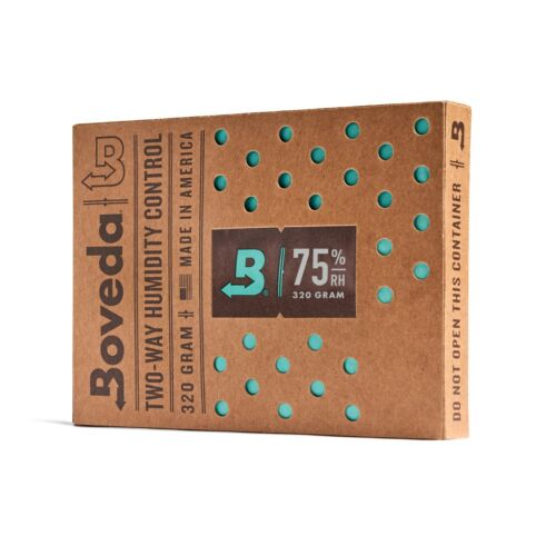 Boveda 75% RH 2-Way Humidity Control | Size 320 for Up to 100 Cigars | 1-Count
