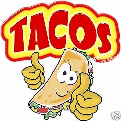 Tacos Decal 14 Taco Mexican Restaurant Concession Food Truck Mobile Kitchen