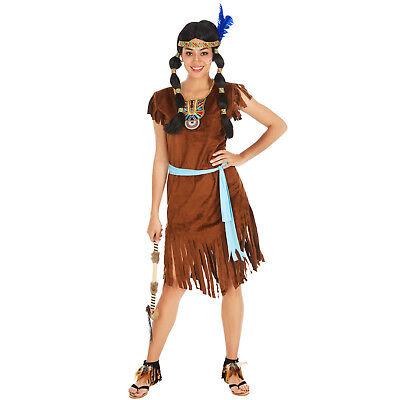 Frauenkostüm sexy Indianerin Indianer Wilder Westen Fasching Apache Squaw (Indianer Kleid)
