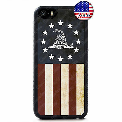 USA Flag Don't Tread on Me Gadsden Flag Case Cover iPhone Xs Max XR X 8 7 6