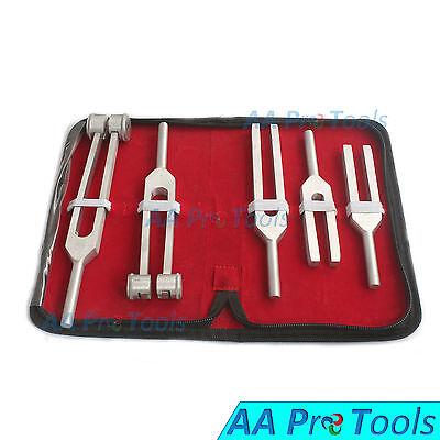 Aa Pro Tuning Fork Chakra Set 5 Aluminium Diagnostic Instruments
