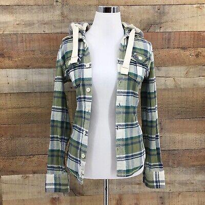 SUPERDRY Women's Plaid Multicolor Thick Heavy Lumberjack Hoodie Jacket Sz XS