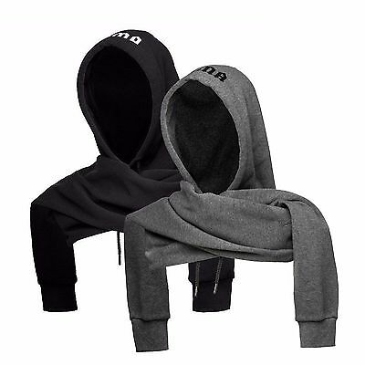 Puma FENTY x RIHANNA - Scarf Joint Hood/Hat Hoody 021260- Wrap Around Gray black
