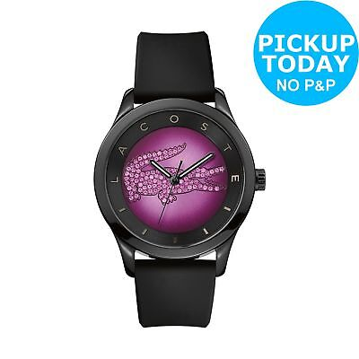 Lacoste Ladies Valencia Black and Purple Dial Strap Analogue Watch