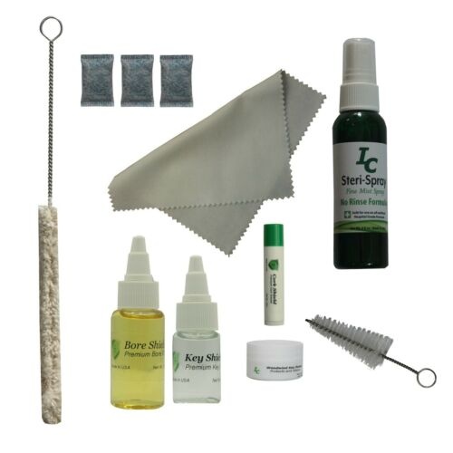 Deluxe Clarinet Care Kit, Bore Oil, Key Oil, Swab, Mouthpiece Brush, More!