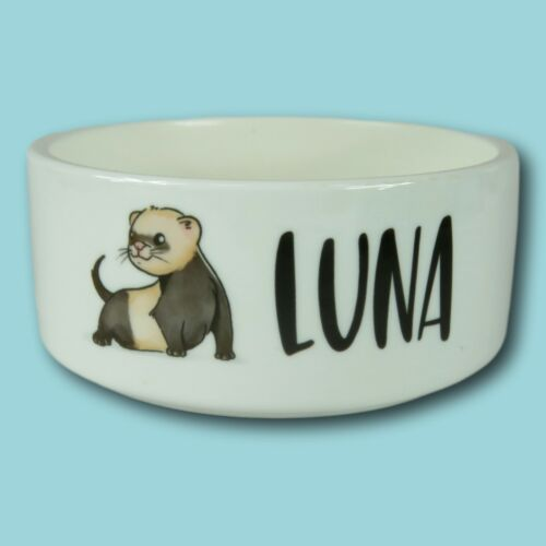 Personalised+Pet+Bowl+%7C+Small+Ferret+bowl+%7C+New+ferret+present+%7C+ferret+bowl