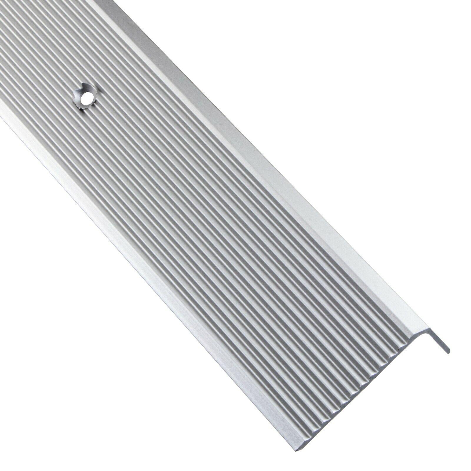 gelochtes Profil zum Schrauben L Form Alu Stufenkantenprofil Integral Breite 30 mm 100 cm eloxiert Silber