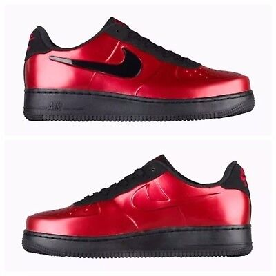 7822905363e NIKE AF1 AIR FORCE 1 FOAMPOSITE PRO CUP GYM RED-BLACK SZ 9.5  AJ3664-601