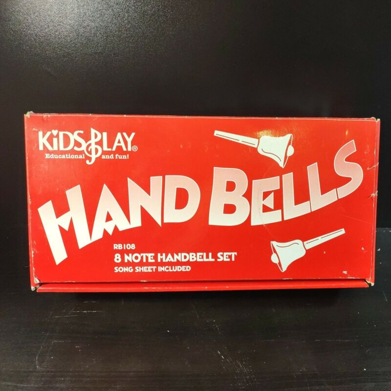 KidsPlay Kids Play 8 Note HandBell Hand Bell Set Used Good Condition