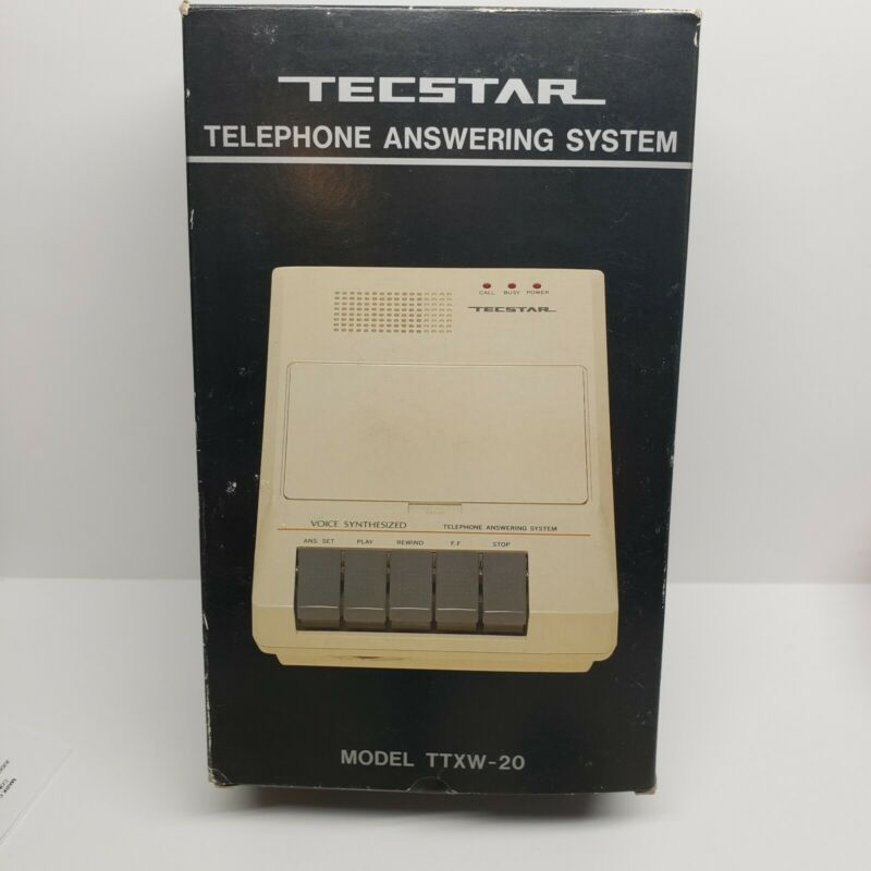 New Vintage Tecstar Telephone Answering System Machine Cassette TTXW-20