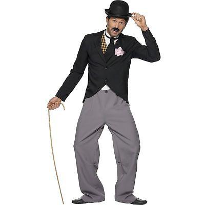 Charlie Chaplin Costumes (20s Charlie Chaplin Star Silent Movie Hollywood Adults Mens Fancy Dress)