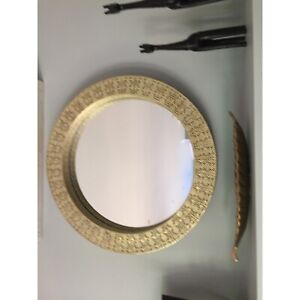 Wall mirror, gold finish frame
