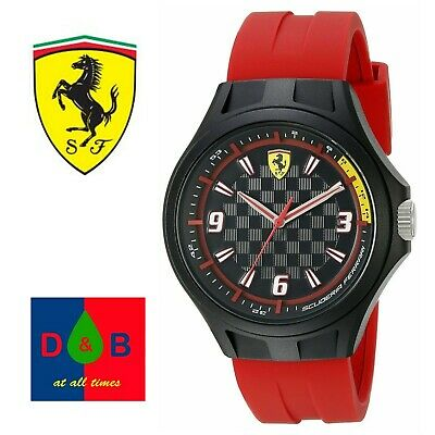 *Low Price* GENUINE Scuderia Ferrari Men's 0830282 Pit Crew Analog Quartz Watch