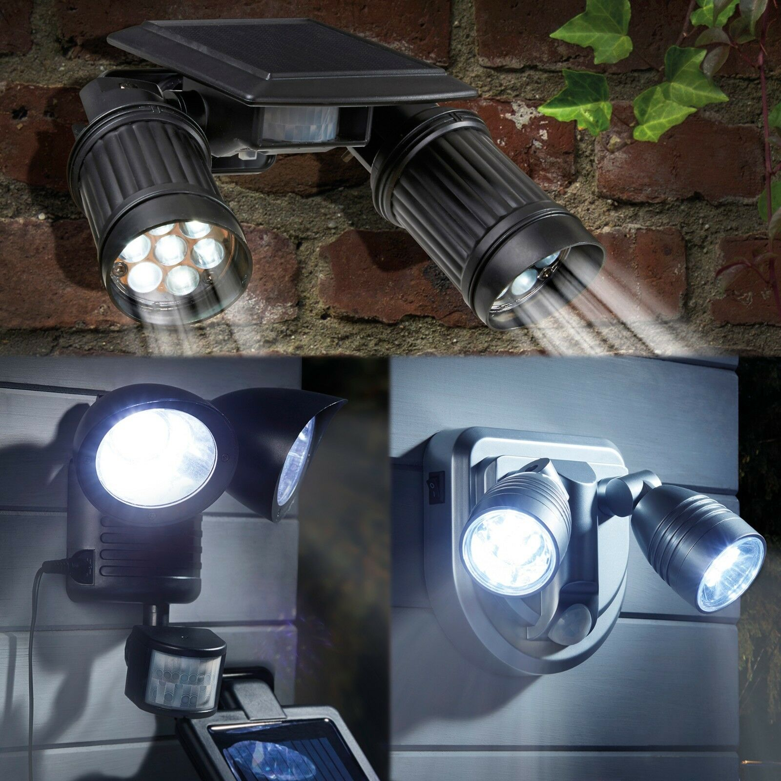Security Light LED Motion Sensor Wireless Super Bright 90 Degree Adjustable 3 Metre Detection Range Zennox