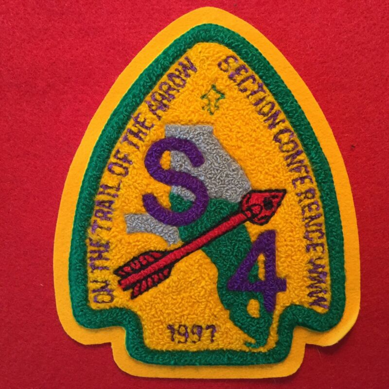 Boy Scout 1997 Section S4 Chenille Conference Order Of The Arrow Jacket Patch