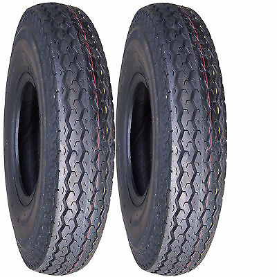"2) 5.30-12 530-12 5.30x12 530x12 12"" Trailer Tire 6ply"