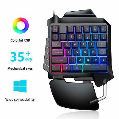 Ergonomic RGB Backlit Keyboard 35 Key One-Handed Gaming Keyp