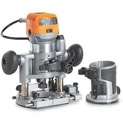 """VonHaus Compact Deluxe Palm Router Plunge + Trimmer 580W Saw1/4"""" 3/8"""" Shank"""