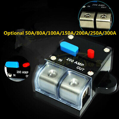 Inverter Fuse Holder Switch Automatic Amplifier Circuit Breaker Stereo Car Audio