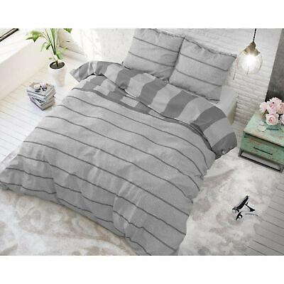 Bettwäsche Set Baumwollmischung 2 Teile Bettgarnitur 140x220cm Amira Anthrazit