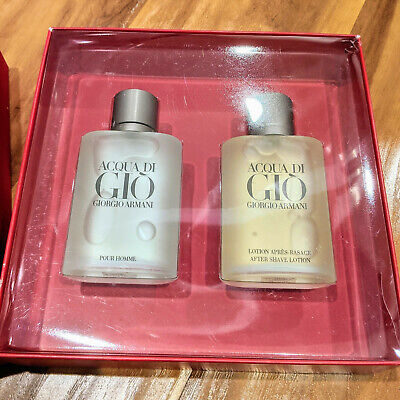 Armani - Aqua di Gio Men's 2 Piece Gift Set - 3.4oz Spray Cologne